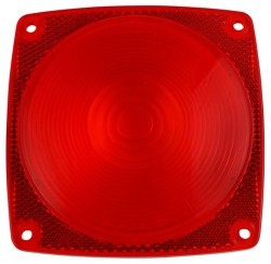 Lens, Tail Light, Red, Bulk - Cequent Trailer Products - Wesbar