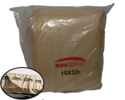 Heavy-Duty Tarpauling - 19ft. wide x 32 ft. long - Navigloo