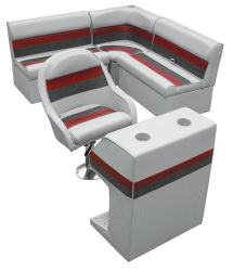 Wise Deluxe Pontoon Compact Rear Entry L Group w Captain Bucket