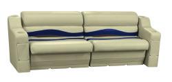 Premier Pontoon Rear or Side Seating Group, Mocha Java-Mocha Java Punch-Navy-Rock Salt - Wise Boat Seats