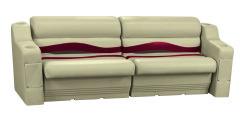 Premier Pontoon Rear or Side Seating Group, Mocha Java-Mocha Java Punch-Red-Rock Salt - Wise Boat Seats