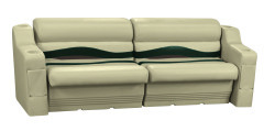 Premier Pontoon Rear or Side Seating Group, Mocha Java-Mocha Java Punch-Green-Rock Salt - Wise Boat Seats