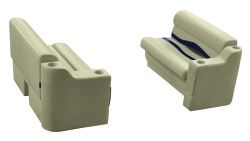 "Premier Pontoon Front Seat 36"" Group, Mocha Java-Mocha Java Punch-Navy-Rock Salt - Wise Boat Seats"