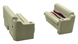 "Premier Pontoon Front Seat 36"" Group, Mocha Java-Mocha Java Punch-Red-Rock Salt - Wise Boat Seats"