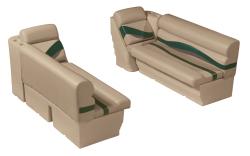 "Premier Pontoon Front Lounge 50"" Group, Mocha Java-Mocha Java Punch-Green-Rock Salt - Wise Boat Seats"