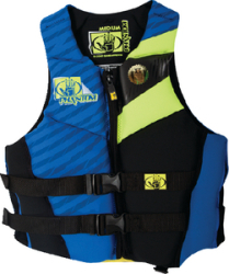 Men's Phantom Neoprene Vest, Royal/Chartreuse, Sm.
