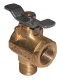 Fv 590 Series 90&Deg; Brass Fuel Valve (Groco)