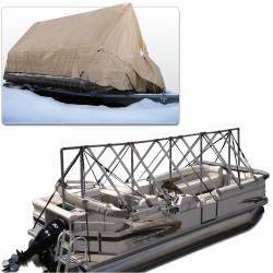 Navigloo Boat Shelter for 23 ft. - 24 ft . Pontoon Boats (Covers Motor)