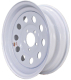 Trailer Wheel, 13 X 4.5 Modular 5-Hole, White W/Stripe