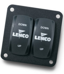 Double Rocker Switch, Single Actuator - Lenco