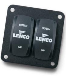 Double Rocker Switch, Single Actuator - Lenco