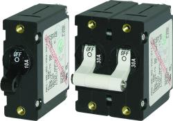 Circuit Breaker, 1-Pole, 20Amp, Black Toggle