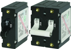 Circuit Breaker, 1-Pole, 25Amp, White Toggle