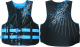 Men's Hinged Neoprene Vest Black/Blue