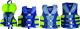 Deluxe 4-Belt Nylon Family Vest Green/Blue