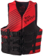 Adult Dual-Sized Rapid-Dry Life Vest - Red - Full Throttle