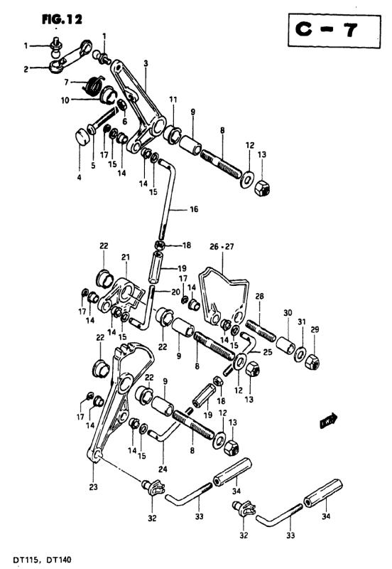 Throttle Link (Model J)