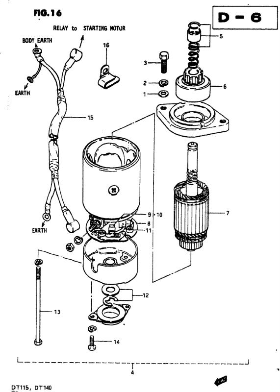 Starting Motor (Model J)