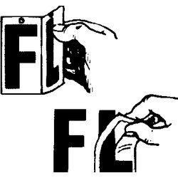 """Boat Lettering """"F"""", Black - Seachoice"""