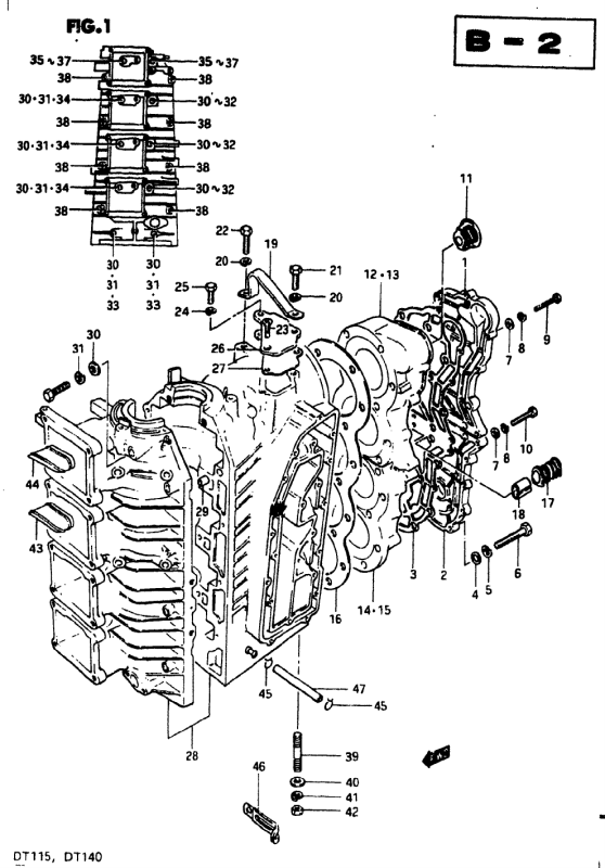 Crankcase 1 (Model J)