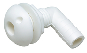 "Thru Hull 90 Degree Connector, 3/4"" (1.91 cm), Plastic, White - Seachoice"
