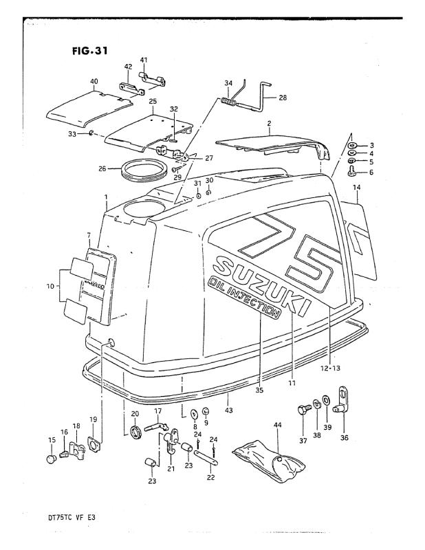 Engine Cover (Model Qd/Ve)