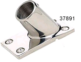 "60 Degree Rail Fitting, 7/8"" Rectangle Base, Stainless Steel - Seachoice"