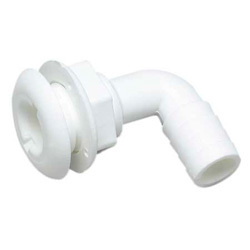 "Thru-Hull Connector , 3/4"", 90 Degree, White - Seachoice"