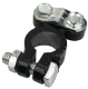 Clamp style coated battery terminal, Black