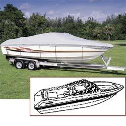 "V-Hull Runabout Boat Cover, 20' 6"" x 102"", Semi-Custom - Seachoice"