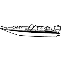 "Wide Bass Boat Cover, 17' 6"" X 90"" - Seachoice"
