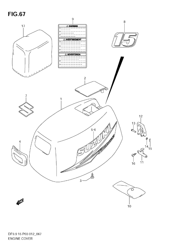 Engine Cover (Df15)