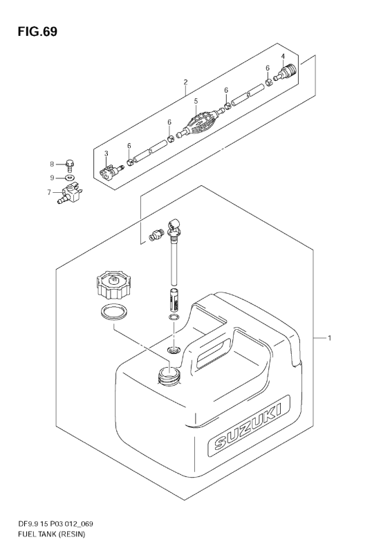 Fuel Tank (Resin) (Df9, 9th)