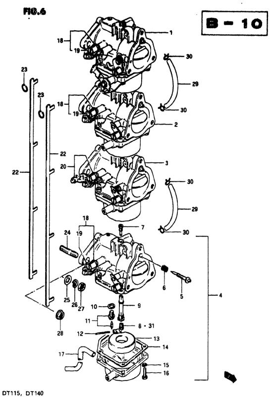 Carburetor (Dt115j/Dt115vz)