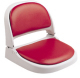 Proform Boat Seat, Gray Shell, Red Vinyl - Attwood