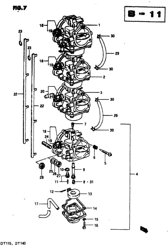 Carburetor (Dt140j/Dt140vz)