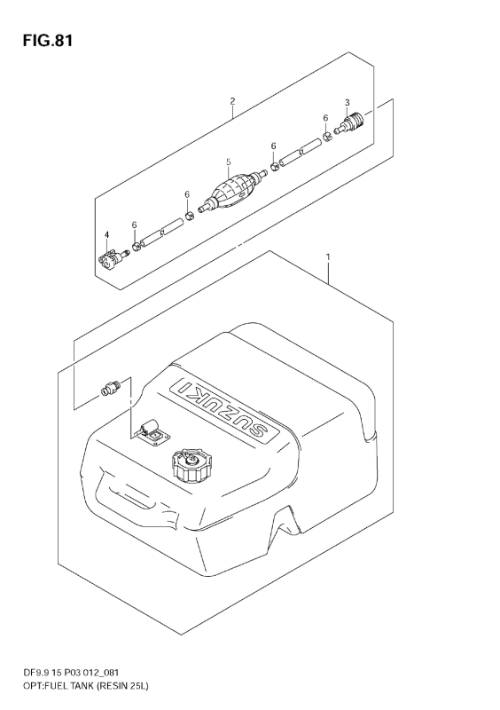 Opt:Fuel Tank (Resin 25l) (Df15)