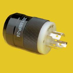 24V Black T- Motor Plug - Marinco
