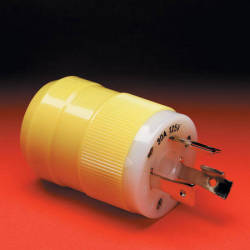 30A 125V Locking Shore Male Power Plug - Marinco