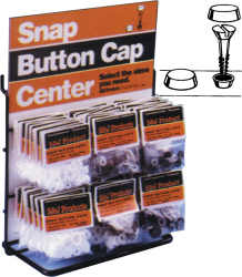 #6 & #8 Snap Button Cap, Black - S & J Products