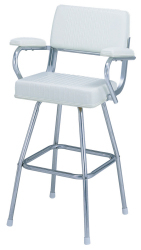 130 Pilot Seat with Polished Frame and Stool - Garelick