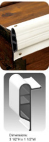 "Dock Pro 3.5""x10' Heavy Duty Vinyl Double Molded Medium Edge Gard Dock Edging, Coil - Taylor Made"