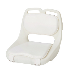 EEz-In 420 Compact Roto Molded Boat Seat with White Cushions - Garelick