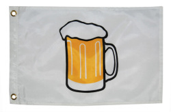 12X18 Beer Mug Nylon Boat Flag - Taylor Made