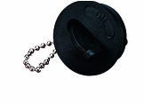 Flip Key Keyless Colored Deck Fill Flip Cap Waste Black SeaDog Line