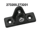 "Convertible Top Deck Hinge Black 13/16""W 2-7/16""L 3/16""P SeaDog Line"