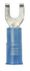 16-14, #8 Insulated Flanged Spade Terminals, Blue, 100 - Ancor