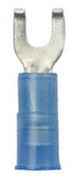 16-14, #10 Insulated Flanged Spade Terminals, Blue, 100 - Ancor