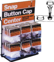#6 & #8 Snap Button Cap, White - S & J Products