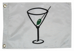 12X18 Cocktail Nylon Boat Flag - Taylor Made